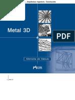 Metal 3D - Memoria de Cálculo