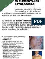 LESIONES ELEMENTALES DERMATOLÓGICAS