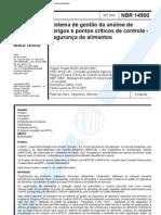 Abnt - Nbr - 14900 - Sistema de Gestao Da Analise de Perigos E Pontos Criticos de Controle - Segu