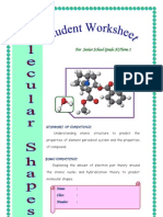 Molecular Shape Worksheet