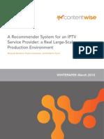 A Rec Om Mender System for an IPTV