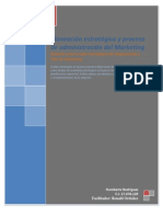 Relación entre el plan Estratégico de Organización y Plan de Marketing