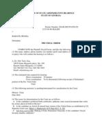 David Farrar v. Barack Obama - Georgia Ballot Access Challenge - Pre-Trial Order - 12/9/2011