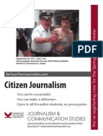 Citizen Journalism Spring 2012 Posters