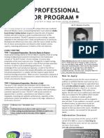 ACTT Professional Actor Program Info 2012