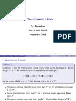 II. Transformasi Linier