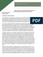 Bernanke - Inaugural Speech as Chairan - Fed's Mandate - Feb'06