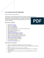 100 Potential Interview Questions