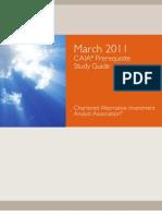 CAIA Mar 2011 Prereq Study Guide 2010-09-30