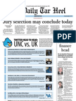 The Daily Tar Heel for December 2, 2011