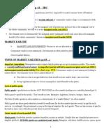 Notes- Market Failure-ch 13