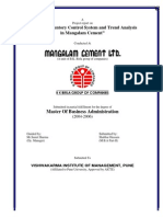 Study of Inventory Control System and Trend Analysis in Mangalam Cement, Mangalam Cement Ltd by Shabbar Hussain