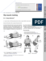 Self Management - Hip Muscle Training