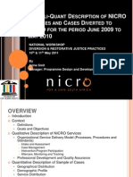 A Quali-Quanti Description of NICRO Services and Cases