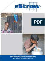 Système de purification d'eau (LifeStraw)