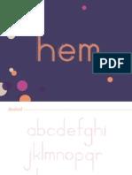 hem- typeface specimen
