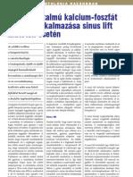 Szilikáttartalmú kalcium-foszfát kerámia alkalmazása sinus lift műtétek esetén Impl 2011-1