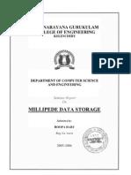 Z-Millipede Data Storage