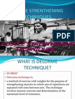 Delorme and Oxfords Technique