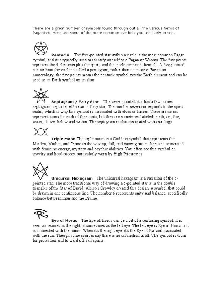 Wiccan Symbols Wicca Goddess
