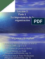 Importancia de la organizacion