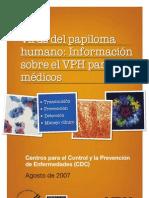cdc español HPV