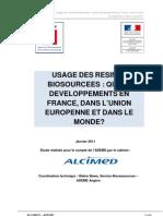 Rapport Alcimed Resines Biosourcees