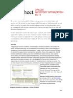 Data Sheet 11i10 Inventory Optimization Ds