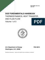 DOE Fundamentals Handbook, Thermodynamics, Heat Transfer, and Fluid Flow, Volume 1 of 3