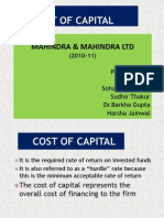 Cost of Capital Mahindra_sohanji_Final
