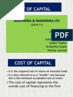 Cost of Capital Mahindra_sohanji_Final
