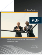 Delivering Business-Critical Solutions With Share Point 2010 TDM