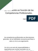 La Formacion en Funcion de Las Competencias Profesionales Gagliardi