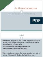 Careers in Green Industries
