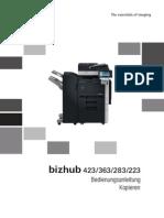 Konica Minolta Bizhub 223,282,363,423 Bedienungsanleitung fur kopieren