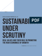 Sustainability Under Under Scrutiny