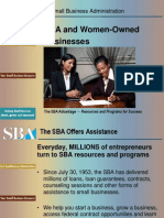 SBA and Women-Owned Businesses