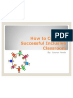 how to create a successful inclusive classroom