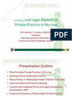 3. PLEN 3 Policy and Legal Aspects of Private Practice in Nursing