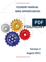 Fy2011 Foundry Manual of Training Opportunities(Version 2)[1]
