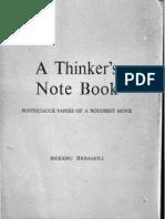 A Thinker's Notebook