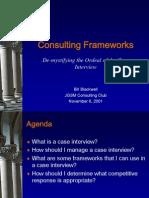 Basic Consulting Frameworks