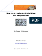How Get Paid When You Shop Online