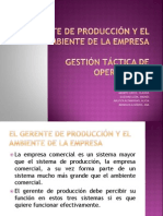 El Gerente de Produccion y El Ambiente De