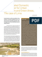 Peru; Using Treated Domestic Wastewater for Urban Agriculture and Green Areas; The case of Lima
