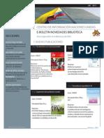 Boletín de Novedades Bibliográficas CINU Bogotá Diciembre
