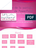 Partes de La Pantalla de Power Point