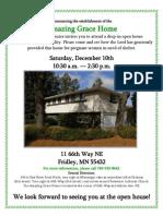 Open House Dec 10 Amazing Grace Home