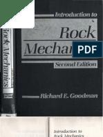 Goodman, R. E. - Introduction to Rock Mechanics, 2nd Edition