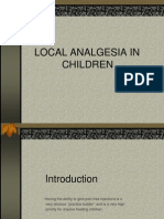 Local Analgesia in Children